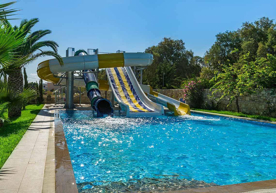 rethymno crete hotel with pool slides - Rethymno Residence Aqua Park & Spa