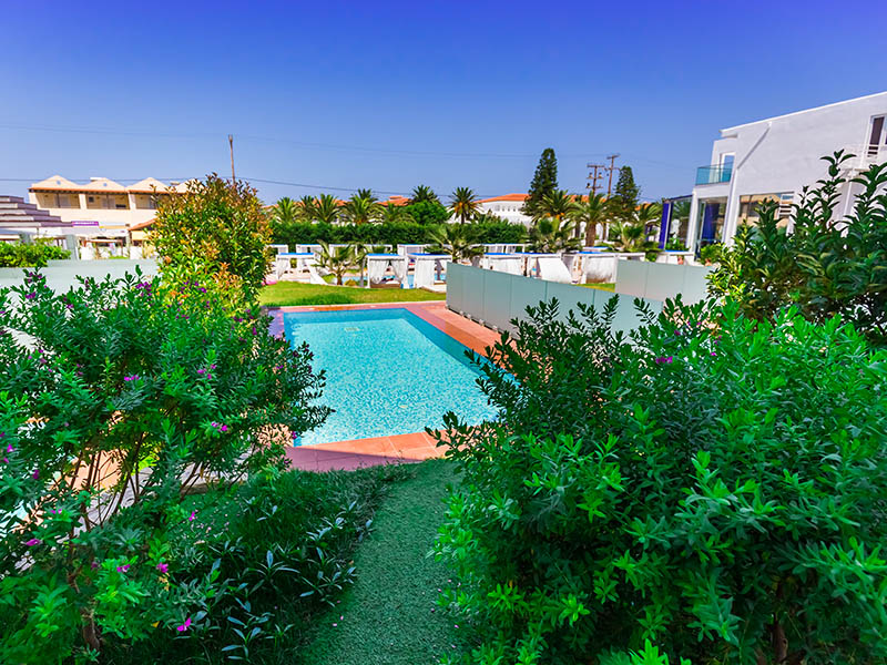 hotel with pool rethymno crete - Rethymno Residence Aqua Park & Spa